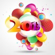 Colorful new year design — Stock Vector
