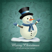 Winter snowman — Stock Vector