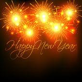Новый год фейерверк празднования — Cтоковый вектор