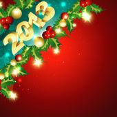 Capodanno d'oro lucido — Vettoriale Stock