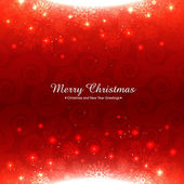 Shiny red christmas background — Stock Vector