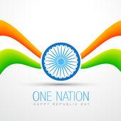 Projekt flagi indii — Wektor stockowy
