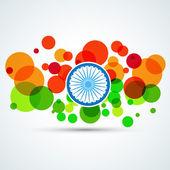 創造的なインドの旗 — ストックベクタ