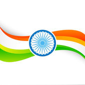 Indian flag design — Stock Vector