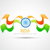 Indian flag design — Vector de stock