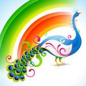 Peacock design — Stock Vector