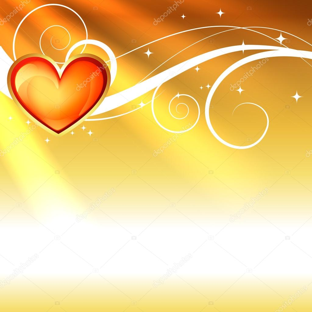 Shiny love heart background with space for your text  Stock Vector #19667513