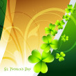 Shamrock leafs — Stock Vector