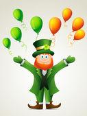 Happy leprechaun — Stock Vector