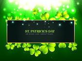 Hermoso diseño de día de San Patricio — Vector de stock
