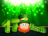 Happy leprechaun — Vettoriale Stock