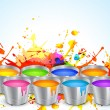 Holi festival design - Stock Vector
