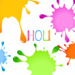 Colorful holi splashes - Stock Vector