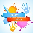 Colorful holi background — Stock Vector #21297029