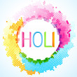 Colorful holi festival — Stock Vector