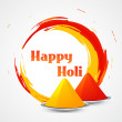 Happy holi design — Stock Vector