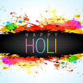 Vector colorful holi background — Stock Vector