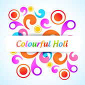 Colorful holi background — Stok Vektör