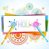 Colorful holi splashes — Stock Vector