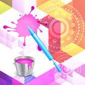 Fondo colorido holi — Vector de stock