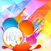 Colorful holi splashes — Vecteur