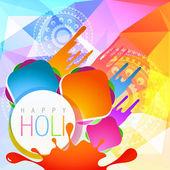 Colorful holi splashes — Stock Vector