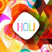 Indian style holi background — Stock Vector