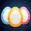 Easter eggs design — Stock Vector