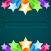 Colorful star background — Stockvektor
