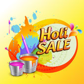 Holi sale design — Vector de stock