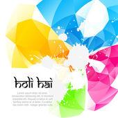 Holi background vector — Stock Vector