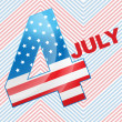 4th of july design — Stock Vector #26373355