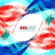 4th of july american independence day — Imagen vectorial