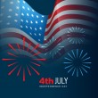 4th of july vector — Stock Vector