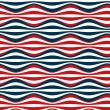 Stock Vector: Seamless red blue stripes