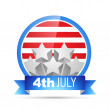 Stock Vector: Vector 4th of july label