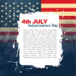 Stock Vector: 4th of july design