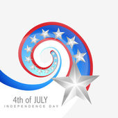 Creative 4th of july — Stock Vector
