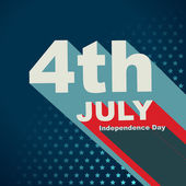 4th of july text — Stockvector