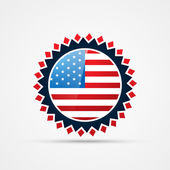 American independence day badge vector — Stock Vector