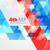 Abstract style 4th of july — Stock Vector