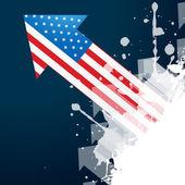 American flag arrow — Stock Vector