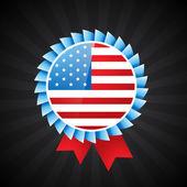 American flag badge — Stock Vector