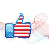 American flag social media — Stock Vector