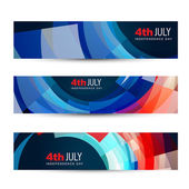 American independence day header — Stock Vector