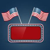 American flag vector — Stock Vector