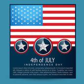 American flag design — Stock Vector