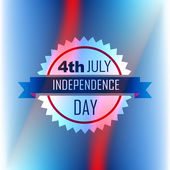 American independence day label — Stock Vector