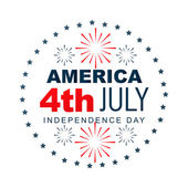 American independence day label — Vecteur