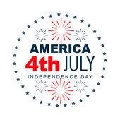 Etichetta giorno dell'indipendenza americana — Vettoriale Stock
